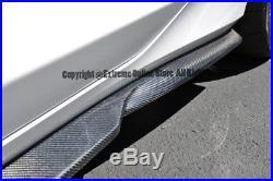 Carbon Fiber Side Skirts Extension Lip V6 V8 For 16-Up Chevrolet Camaro R Style