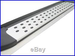 Chevrolet Captiva Freedom Aluminium Side Steps Bars Running Boards Black Silver