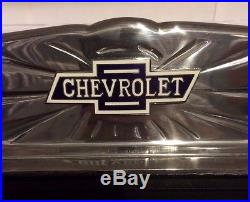 Chevrolet Chevy Polished Deluxe Aluminum Running Board Step Plate with Rubber SET