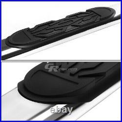 Chrome 6 Oval Step Nerf Bar Running Board For 99-14 Chevy Silverado Crew Cab