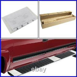 Chrome Oe-style 6side Step Bar Running Board For 07-19 Silverado/sierra Ext Cab