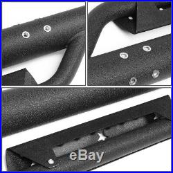 Coated Round Tube Step Bar Running Boards for Chevy GMC Heavy Duty Reg Cab 07-19