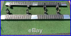 Factory 2500HD 3500 RUNNING BOARDS Pair Two 2 OEM GM CHROME Crew Cab Nerf Bars