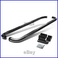 Fit 00+ Chevy Suburban/Avalanche/Yukon Black 3 Side Step Nerf Bar Running Board