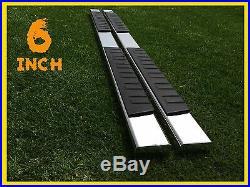 Fit 07-18 CHEVROLET Tahoe 6 Nerf Bar Side Bar Running Board Side Step Chrome H