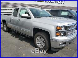 Fit 07-18 Chevy Silverado Double Cab 3 Nerf Bar Running Board Side Steps HOOP