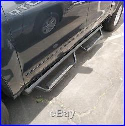 Fit 07-18 Chevy Silverado Double Cab 3 Running Board Side Step Nerf Bar BLK BUC