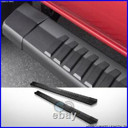 Fit 07-18 Chevy Silverado Extended/Double 6 Matte Blk OE Aluminum Running Board