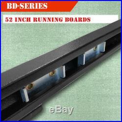 Fit 07-18 Chevy Silverado Regular Cab 3 Running Board Side Step Nerf Bar BLK BD