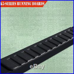"""Fit 07-18 Silverado//Sierra 1500 Crew Cab 5/"""" Side Step Nerf Bar Running Board H"""