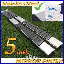 Fit 07-18 Silverado Sierra double/Extend Cab 5 Nerf Bar Running Board Step H