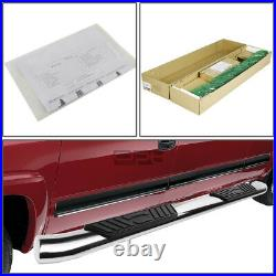 Fit 07-19 Chevy Silverado Crew 5Chrome Curved Oval Step Nerf Bar Running Board