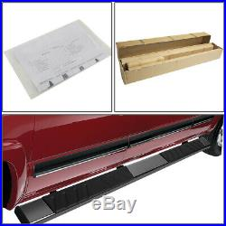 Fit 07-19 Silverado Sierra Extended Cab 5 Stainless Step Bar Running Boards