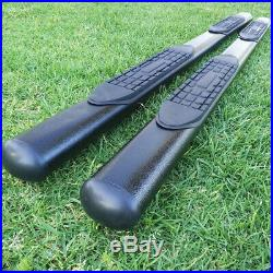 Fit 09-17 CHEVY TRAVERSE GMC ACADIA 4 Side Step Nerf Bar Running Board Oval BLK