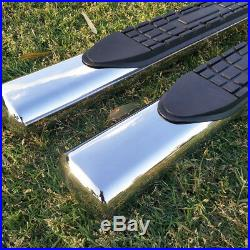 Fit 09-17 CHEVY TRAVERSE GMC ACADIA 4 Side Steps Nerf Bar Running Board SS Oval