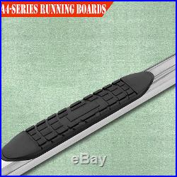 Fit 09-17 CHEVY TRAVERSE GMC ACADIA 4 Side Steps Nerf Bar Running Boards A S/S