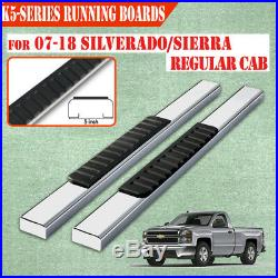 Fit 14-18 Chevy Silverado Regular Cab 5 Running Boards Side Step Nerf Bar S/S H