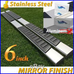 Fit 14-18 Silverado/Sierra Double Ext Cab 6 Nerf Bar Side Step Running Boards H