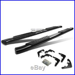 Fit 15-16 Gm Colorado Crew Cab 5 Black Curved Oval Step Nerf Bar Running Board