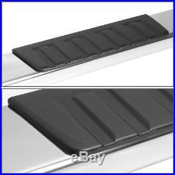 Fit 2007-2018 Silverado/Sierra Crew Cab Pair 6 Chrome Running Board Step Bar