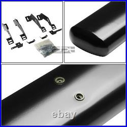 Fit 88-00 Chevy/Gmc C/K Ext Cab 4 Oval Black Side Step Nerf Bar Running Board