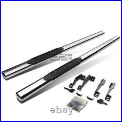 Fit 88-00 Chevy/Gmc C/K Ext Cab 4 Oval Chrome Side Step Nerf Bar Running Board