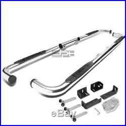 Fit 99-11 Chevy/Ram/Gmc Ext/Crew Bully Chrome 3Side Step Nerf Bar Running Board