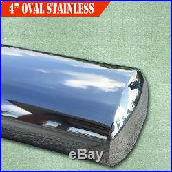 Fit 99-16 Chevy Silverado Double Cab 4 Running Board Nerf Bar Side Step Oval SS