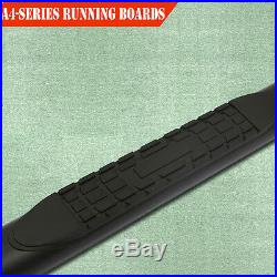 Fit 99-16 Chevy Silverado Double Cab 4 Running Boards Side Step Nerf Bar BLK A