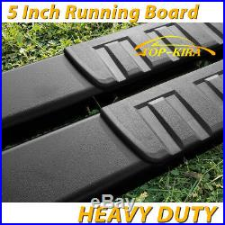 Fit 99-16 Chevy Silverado Double Cab 5 Running Boards Side Step Nerf Bar BLK H