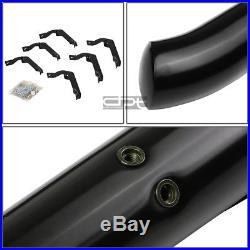 Fit 99-16 Silverado/Gmc Sierra Ext Cab Black 3 Side Step Nerf Bar Running Board