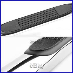 Fit 99-16 Silverado/Sierra Ext Cab Chrome Ss 3 Side Step Nerf Bar Running Board