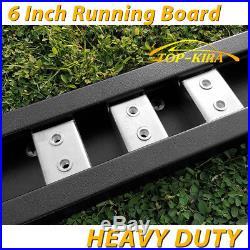 Fit 99-18 Chevy Silverado Crew Cab 6 Running Boards Side Step Nerf Bar BLK H