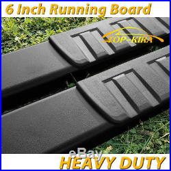 Fit 99-18 Chevy Silverado Double Cab 6 Running Boards Side Step Nerf Bar BLK H