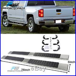 Fits 07-17 Chevy Silverado Sierra 1500 Ext Cab Nerf Bar Running Boards Chrome 6