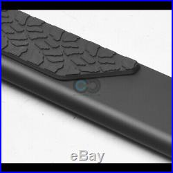 Fits 07-18 Chevy Silverado Extended Cab 5 Matte Blk TI Aluminum Running Boards