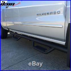 Fits 07-18 Chevy Silverado / GMC Sierra Crew Cab Running Board Nerf Bar