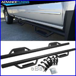Fits 07-18 Chevy Silverado / GMC Sierra Crew Cab Side Step Nerf Bar Black
