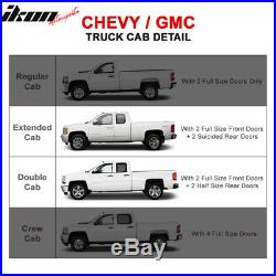 Fits 07-18 Chevy Silverado / GMC Sierra Double 3 Inch Black Side Step Nerf Bars