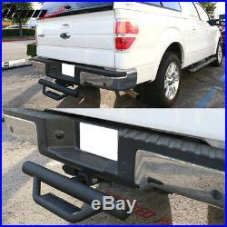 Fits 07-18 Chevy Silverado Sierra Crew Cab Running Board Nerf Bar + Hitch Step