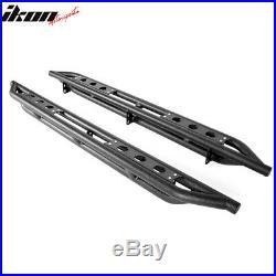 Fits 07-18 GMC Sierra/Chevy Silverado Extended Cab 6 Nerf Bars Side Armor Black