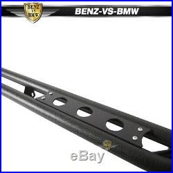 Fits 07-18 Sierra/Silverado Double/Extended Cab 6 Nerf Bars Side Armor Black