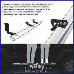 Fits 07-18 Silverado GMC Sierra Crew Cab 4 Inches Side Step Bar Running Board