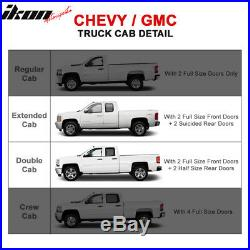 Fits 07-18 Silverado GMC Sierra Extended Cab 4 Inches Side Steps Running Boards