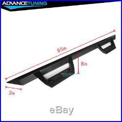 Fits 07-19 Chevy Silverado GMC Sierra Crew Cab Side Step Bar Running Board Black