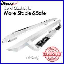 Fits 07-19 Chevy Silverado Sierra Extended Cab IKON V1 Style Running Boards Pair