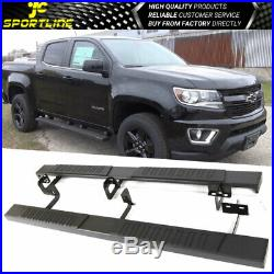 Fits 15-18 Chevy Colorado GMC Canyon Crew Cab 76 in Running Boards Side Bars