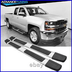 Fits 19-20 Chevy Silverado Sierra 1500 Extended Cab OE S6 Running Board Silver