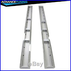 Fits 19 Chevy Silverado Crew OE Style Chrome 6inch SS Side Rails Running Boards