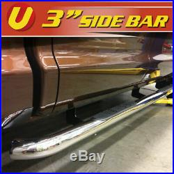 Fits 1999-2018 Chevy Silverado Extended/Double Cab 3 S. S Nerf Bars Side Bars